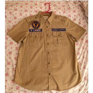 Denim & Supply(RL) Khaki Button Up Shirt